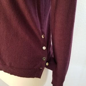 Ann Taylor Side Button Boatneck Tunic Sweater